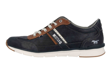Mustang Shoes Halbschuhe in Übergrößen Blau 4137-301-820 große Herrenschuhe – Bild 1