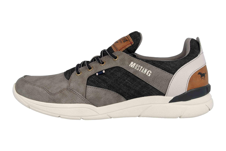Mustang Shoes Halbschuhe in Übergrößen Grau 4138-301-2 große Herrenschuhe – Bild 1