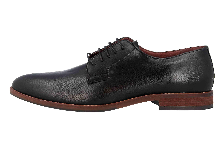 Mustang Shoes Halbschuhe in Übergrößen Schwarz 4904-302-9 große Herrenschuhe – Bild 1