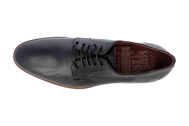 Mustang Shoes Halbschuhe in Übergrößen Schwarz 4904-302-9 große Herrenschuhe – Bild 7