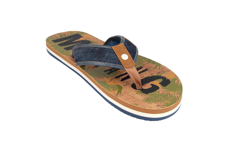 Mustang Shoes Zehentrenner in Übergrößen Blau 4113-703-841 große Herrenschuhe – Bild 5