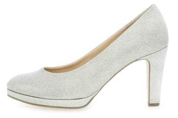 Gabor Fashion Pumps in Übergrößen Silber 21.270.81 große Damenschuhe – Bild 1