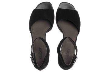 Gabor Fashion Sandaletten in Übergrößen Schwarz 21.723.17 große Damenschuhe – Bild 7