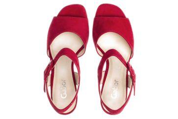 Gabor Fashion Sandaletten in Übergrößen Rot 21.752.15 große Damenschuhe – Bild 6
