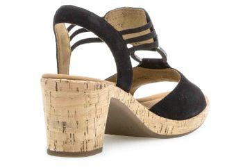 Gabor Comfort Sport Sandaletten in Übergrößen Schwarz 22.775.47 große Damenschuhe – Bild 3