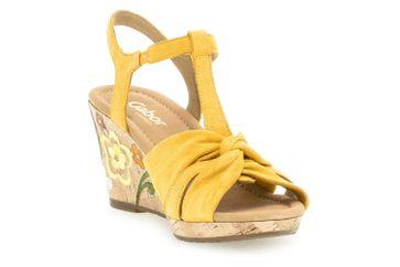 Gabor Comfort Sport Sandaletten in Übergrößen Gelb 22.828.22 große Damenschuhe – Bild 5