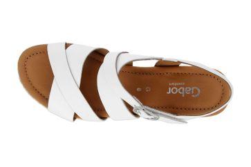 Gabor Comfort Sport Sandaletten in Übergrößen Weiss 22.832.51 große Damenschuhe – Bild 7