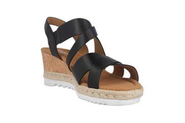 Gabor Comfort Sport Sandaletten in Übergrößen Schwarz 22.832.57 große Damenschuhe – Bild 5