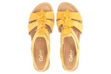 Gabor Comfort Sport Sandaletten in Übergrößen Gelb 22.833.22 große Damenschuhe – Bild 7