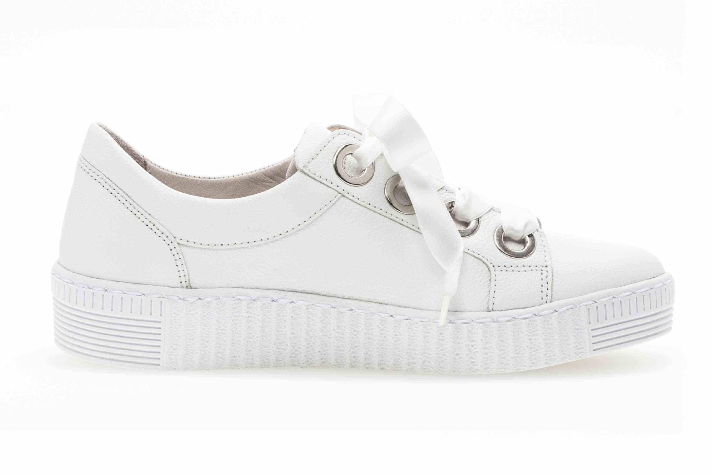 Gabor Jollys Sneaker in Übergrößen Weiss 23.330.21 große Damenschuhe – Bild 4