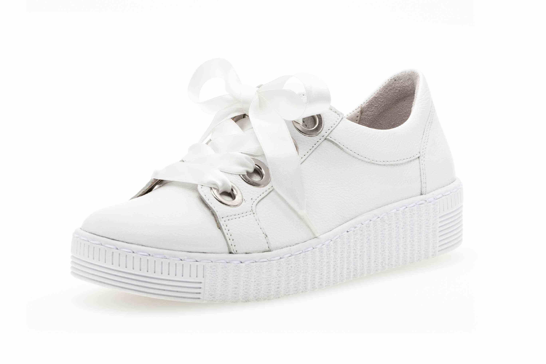 Gabor Jollys Sneaker in Übergrößen Weiss 23.330.21 große Damenschuhe – Bild 6