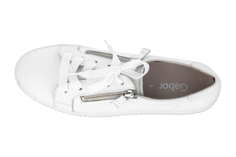 Gabor Jollys Sneaker in Übergrößen Weiss 23.334.21 große Damenschuhe – Bild 7