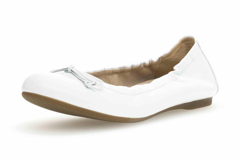 Gabor Casual Ballerina in Übergrößen Weiss 24.120.21 große Damenschuhe – Bild 6