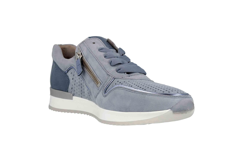 Gabor Casual Sneaker in Übergrößen Blau 24.422.16 große Damenschuhe – Bild 5