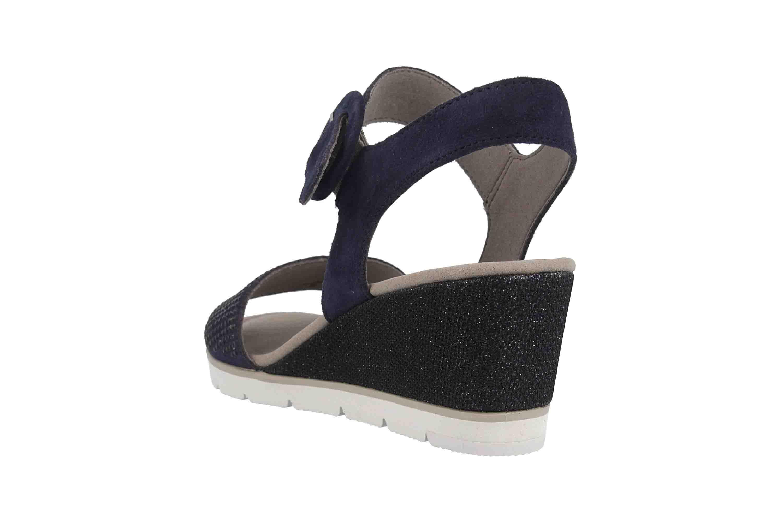Gabor Basic Sandaletten in Übergrößen Blau 25.754.16 große Damenschuhe – Bild 2