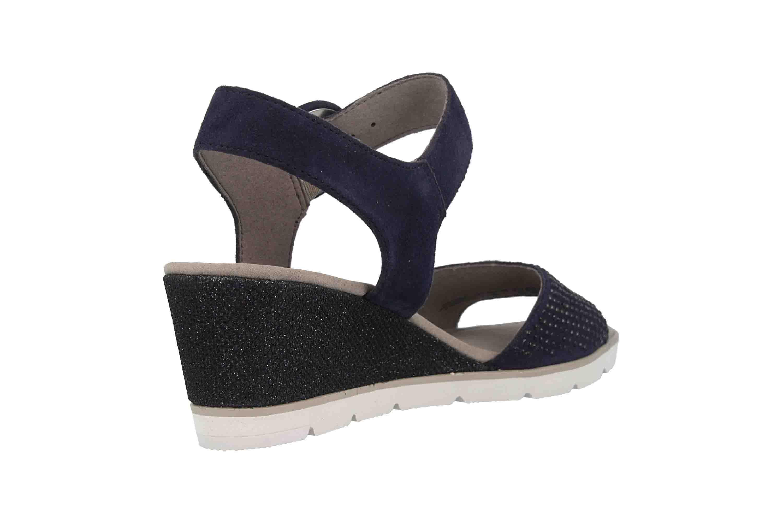 Gabor Basic Sandaletten in Übergrößen Blau 25.754.16 große Damenschuhe – Bild 3