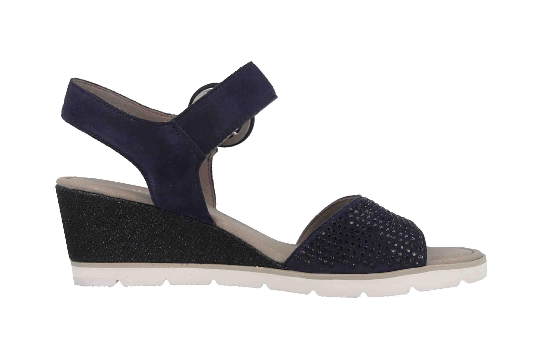 Gabor Basic Sandaletten in Übergrößen Blau 25.754.16 große Damenschuhe – Bild 4