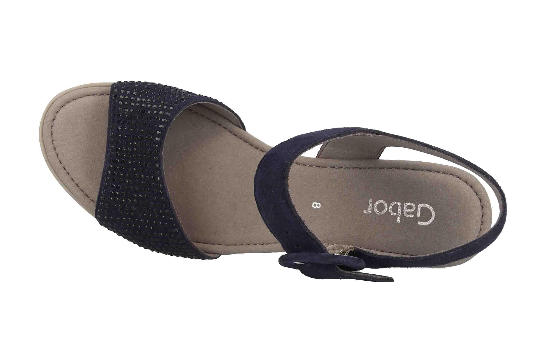 Gabor Basic Sandaletten in Übergrößen Blau 25.754.16 große Damenschuhe – Bild 7