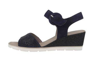 Gabor Basic Sandaletten in Übergrößen Blau 25.754.16 große Damenschuhe – Bild 1