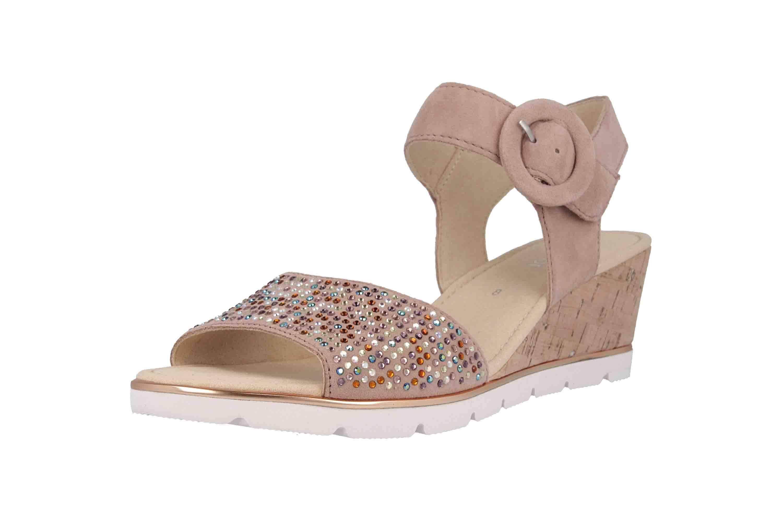 Gabor Basic Sandaletten in Übergrößen Rosa 25.754.34 große Damenschuhe