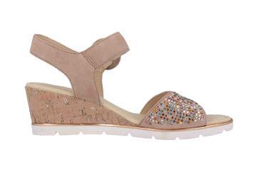 Gabor Basic Sandaletten in Übergrößen Rosa 25.754.34 große Damenschuhe – Bild 4