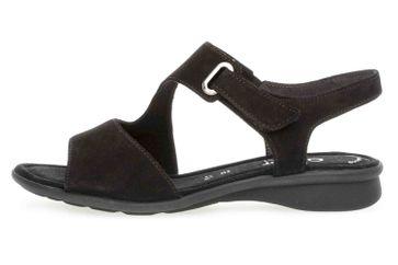 Gabor Comfort Basic Sandaletten in Übergrößen Schwarz 26.063.47 große Damenschuhe – Bild 1