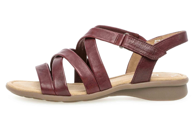 Gabor Comfort Basic Sandaletten in Übergrößen Rot 26.066.18 große Damenschuhe
