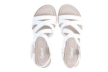 Gabor Comfort Basic Sandaletten in Übergrößen Weiss 26.066.50 große Damenschuhe – Bild 7