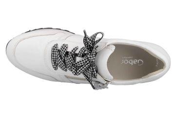 Gabor Comfort Basic Sneaker in Übergrößen Weiss 26.448.50 große Damenschuhe – Bild 7