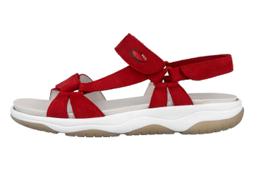 a3f8431e4d5707 Gabor rollingsoft Sandaletten in Übergrößen Rot 26.928.48 große Damenschuhe  – Bild 1