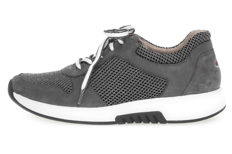 Gabor rollingsoft Sneaker in Übergrößen Grau 26.946.49 große Damenschuhe – Bild 1