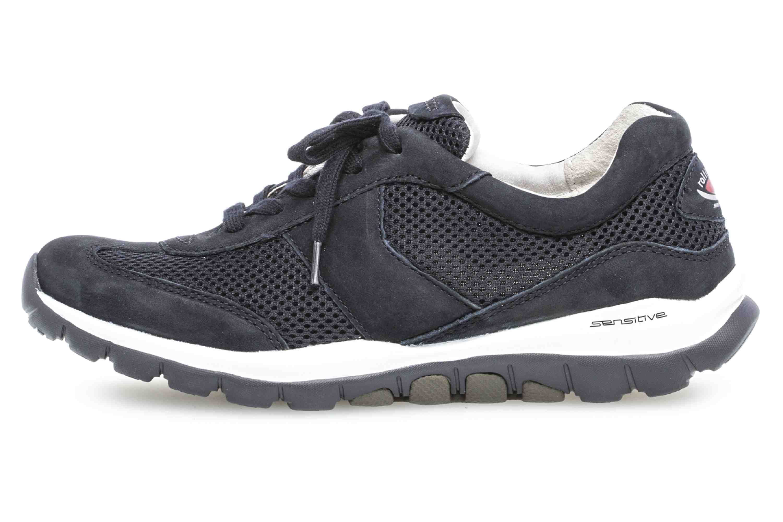 Gabor rollingsoft Sneaker in Übergrößen Blau 26.966.46 große Damenschuhe – Bild 1