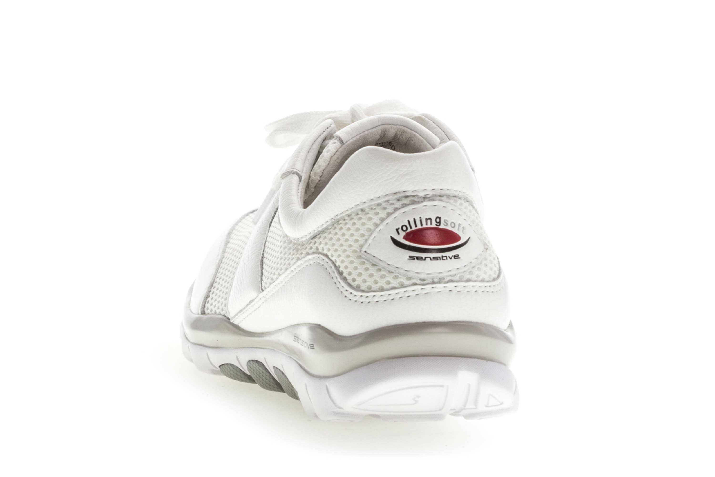 Gabor rollingsoft Sneaker in Übergrößen Weiss 26.966.50 große Damenschuhe – Bild 2