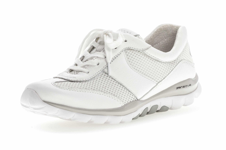 Gabor rollingsoft Sneaker in Übergrößen Weiss 26.966.50 große Damenschuhe – Bild 6