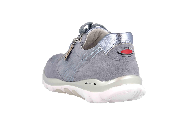 Gabor rollingsoft Sneaker in Übergrößen Blau 26.968.83 große Damenschuhe – Bild 2