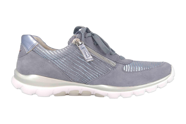 Gabor rollingsoft Sneaker in Übergrößen Blau 26.968.83 große Damenschuhe – Bild 4