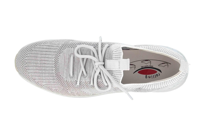 Gabor rollingsoft Sneaker in Übergrößen Grau 26.980.12 große Damenschuhe – Bild 7