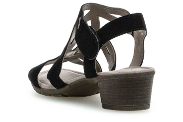 Gabor Casual Sandalette in Übergrößen Schwarz 24.561.17 große Damenschuhe – Bild 2