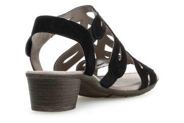 Gabor Casual Sandalette in Übergrößen Schwarz 24.561.17 große Damenschuhe – Bild 3