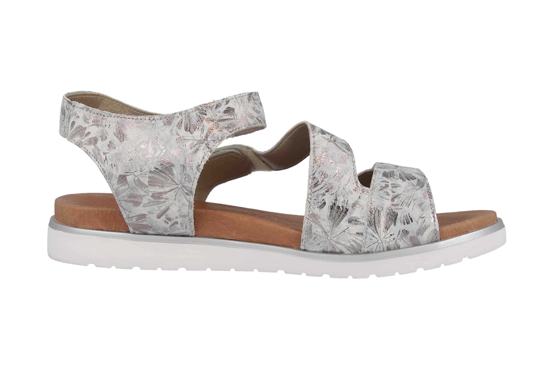 Remonte Sandalen in Übergrößen Silber D4057-42 große Damenschuhe – Bild 4