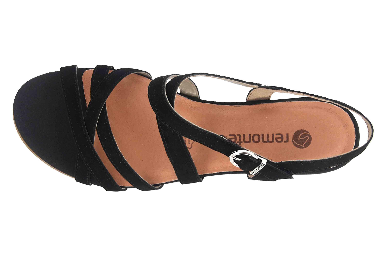 Remonte Sandalen in Übergrößen Schwarz R9052-02 große Damenschuhe – Bild 7