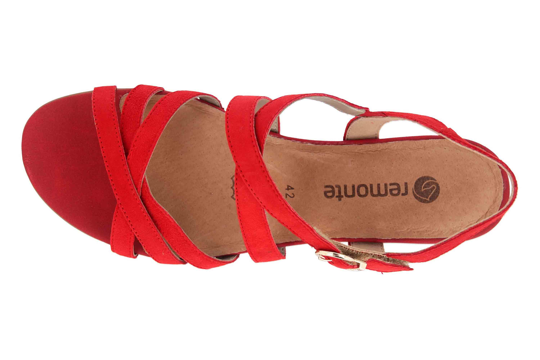 Remonte Sandalen in Übergrößen Rot R9052-33 große Damenschuhe – Bild 7