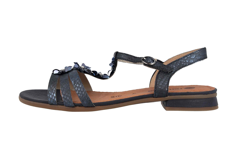 Remonte Sandalen in Übergrößen Blau R9056-14 große Damenschuhe – Bild 1