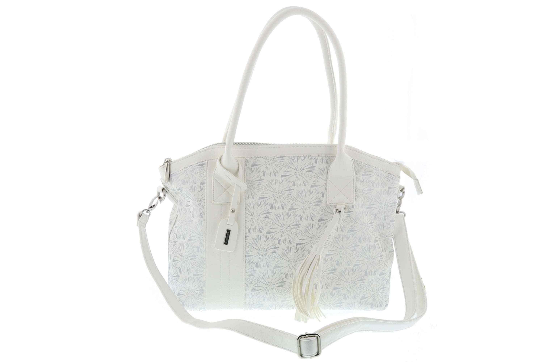 Remonte Tasche Fino/Fleurprint in Weiß/Silber Q0388-80 – Bild 1
