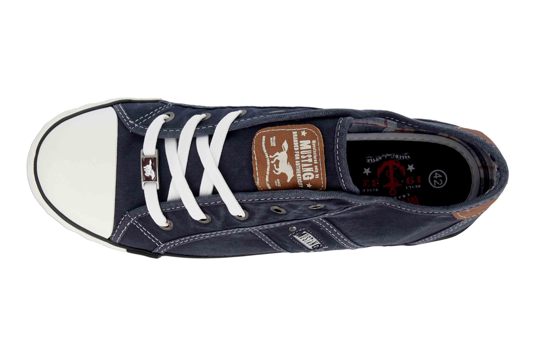 Details zu Mustang Shoes Sneaker in Übergrößen Blau 1099 302 800 große Damenschuhe