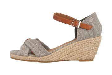 Mustang Shoes Sandaletten in Übergrößen Grau 1248-803-22 große Damenschuhe – Bild 1