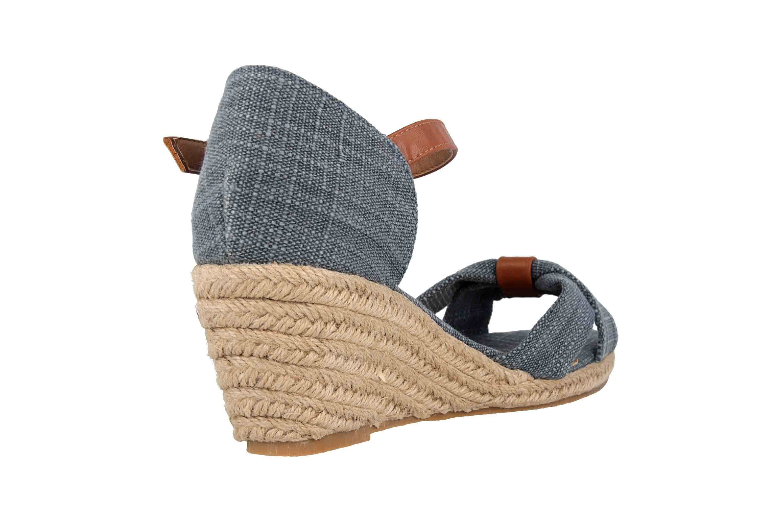 Mustang Shoes Sandaletten in Übergrößen Blau 1248-803-8 große Damenschuhe – Bild 3