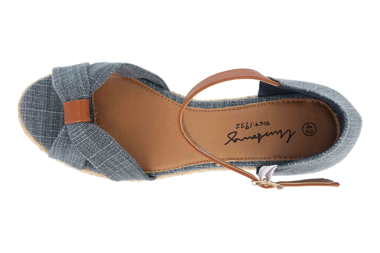 Mustang Shoes Sandaletten in Übergrößen Blau 1248-803-8 große Damenschuhe – Bild 7