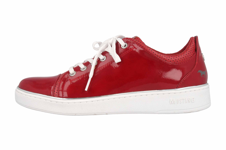 Mustang Shoes Sneaker in Übergrößen Rot 1300-301-5 große Damenschuhe – Bild 1