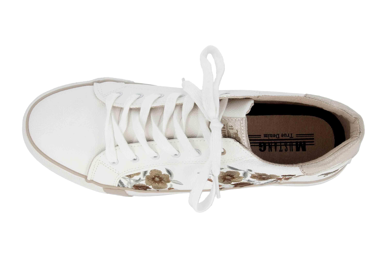 Mustang Shoes Sneaker in Übergrößen Weiß 1313-303-14 große Damenschuhe – Bild 7